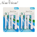Newview 8 unids reemplazo cepillo de dientes eléctrico jefes para philips sonicare cepillo de dientes eléctrico cuidado de la higiene limpio hx-2012sf