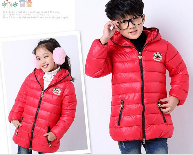 b3bcfba705b3 Kids Girls Boys Quilted Down Puffer Jacket Zip Thick Outwear Outfit ...