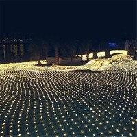 Kmashi LED Christmas Lights Outdoor Waterproof Net String Lights 4M x6M 672LED AC 220V Garland Wedding Decoration Fairy Light