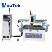 AccTek Factory made 1325 kitchen cabinet wood carving machine atc for 3d olive wood italy