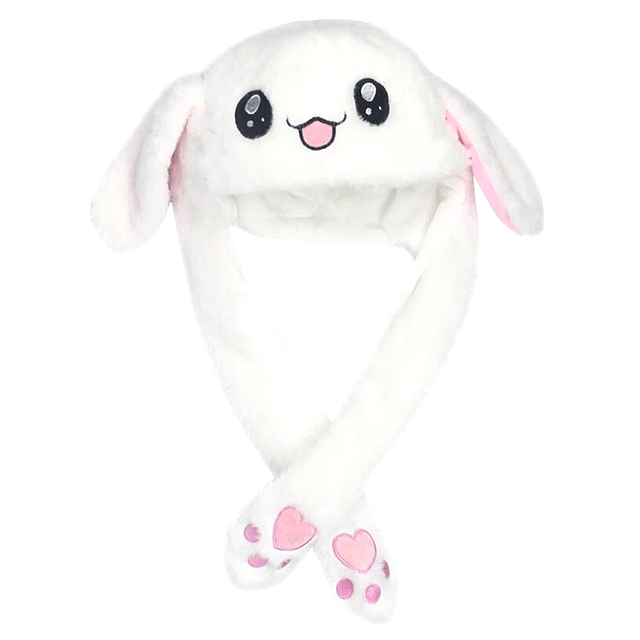 New Style Cute Funny Rabbit Hat Toy Moving Bunny Ears Soft Plush Cap Toys for Children Cosplay Gifts 2018 Dolls & Stuffed Toys