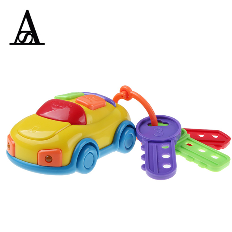 Aitesen children for kids educational toys model car flashing electron playmobil baby phone music car and cartoon key