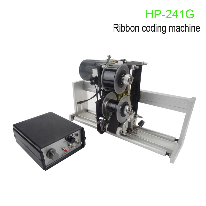 HP-241G Color Ribbon Hot Printing Machine,Heat ribbon printer for packing expire date printing machine date code printer machine for printing expiration date