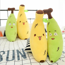 Cartoon Creative Couple Soft Body Banana Pillow Simulation Fruit Series Plush Toy Cute Sofa Cushion Doll Child Girl Gift