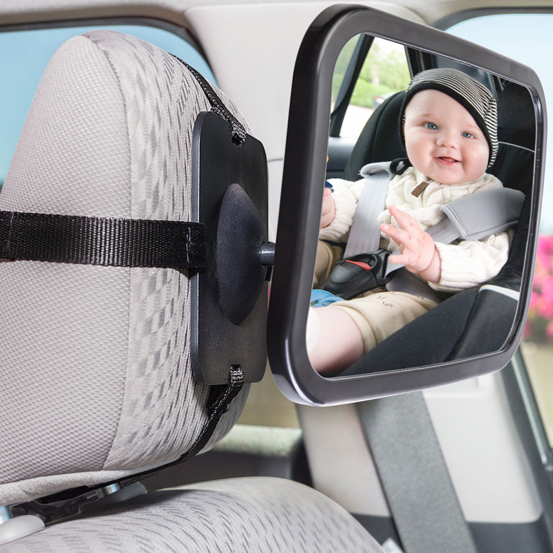 Large Wide Baby Child Car Safety Back Seats Mirror Rear View Easily Adjustable