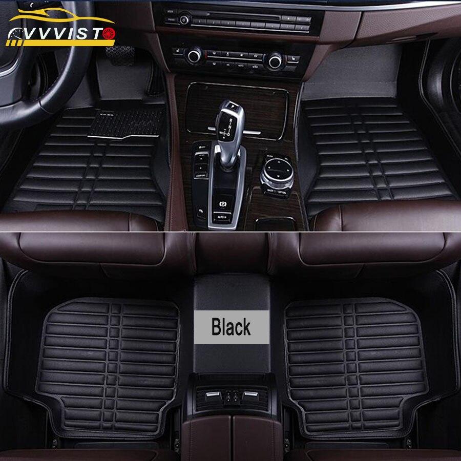 2019 VVVIST universel voiture tapis de sol en cuir Pu avant arrière imperméable Anti-sale tapis de sol Auto accessoires voiture style tapis de sol