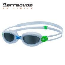 Barracuda Junior Swimming Goggles AQUAFISK Curved Lenses Dual-material Frame Anti-fog UV Protection for Children #30115
