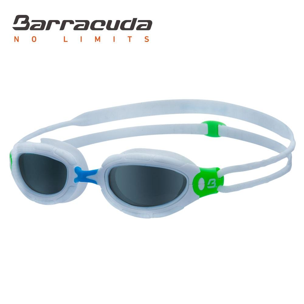 Barracuda Junior Swim Goggles AQUAFISK Curved Lenses Dual-material Frame Anti-fog UV Protection No Leaking for Children #30115