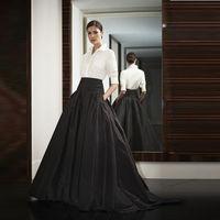 2016 Spring Summer New Fashion Ladies Plus Size 3XS 10XL Satin Black Long Party Skirts Womens Ladies Prom Skirt