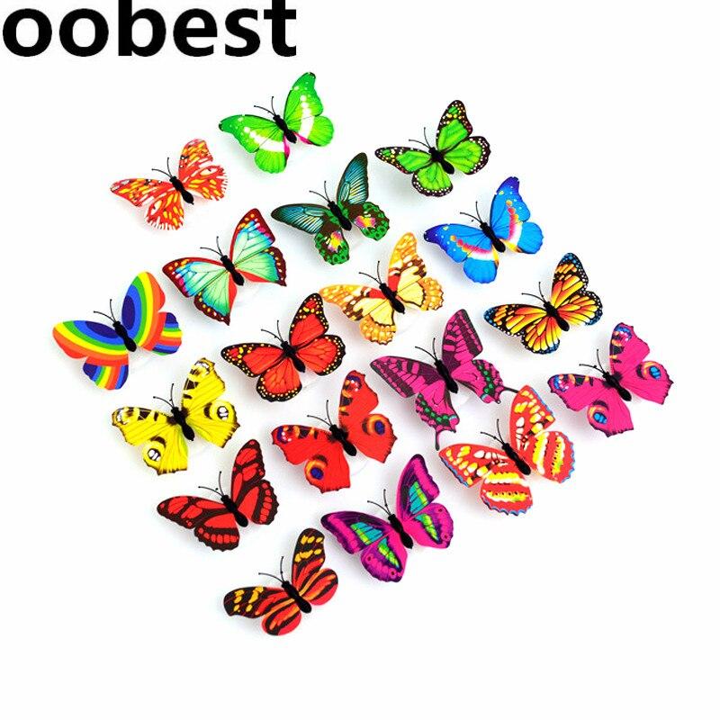 Luzes da Noite oobest 10 pçs/lote leve borboleta Potência : 0-5 w