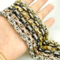 Punk 316L Stainless Steel Byzantine Bracelet Special Biker Bicycle Motorcycle Chain Link Men HF012