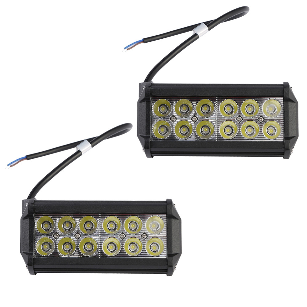 GERUITE Brand 2PCS 36W Spot Beam LED Work Light Bar Offroad 4x4 4WD LED Fog Lamp Truck Motorcycle Boat Van Tractor Lamp RZR 1 pcs 7 led 36w pencil beam spot work light lamp bar offroad vehicle 4wd ute boat 12v 24v