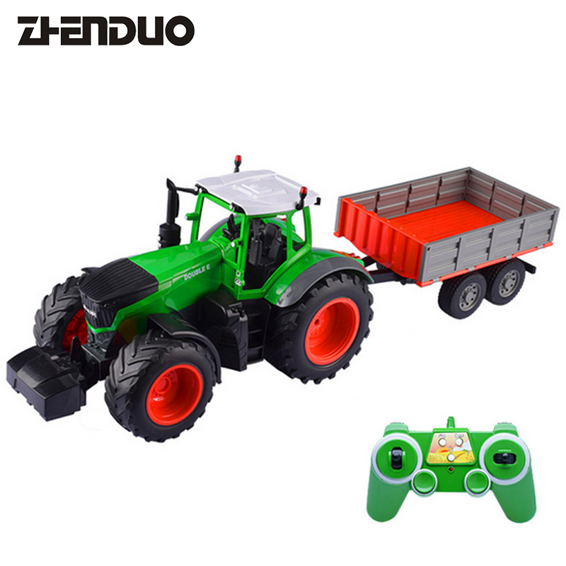 ZhenDuo Toys E354-001 Remote Control Farmer Dump Truck Suit Agricultural Engineering FarmTransportation Vehicle Electric Toy