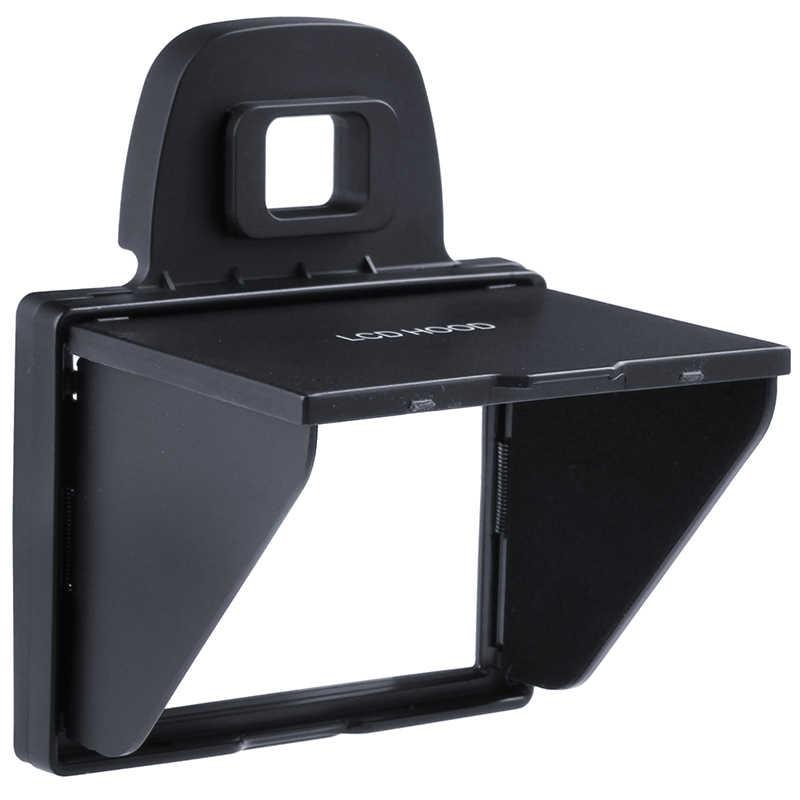 2in1 واقي شاشة LCD المنبثقة غطاء ظل الشمس لنيكونd7100 D7200