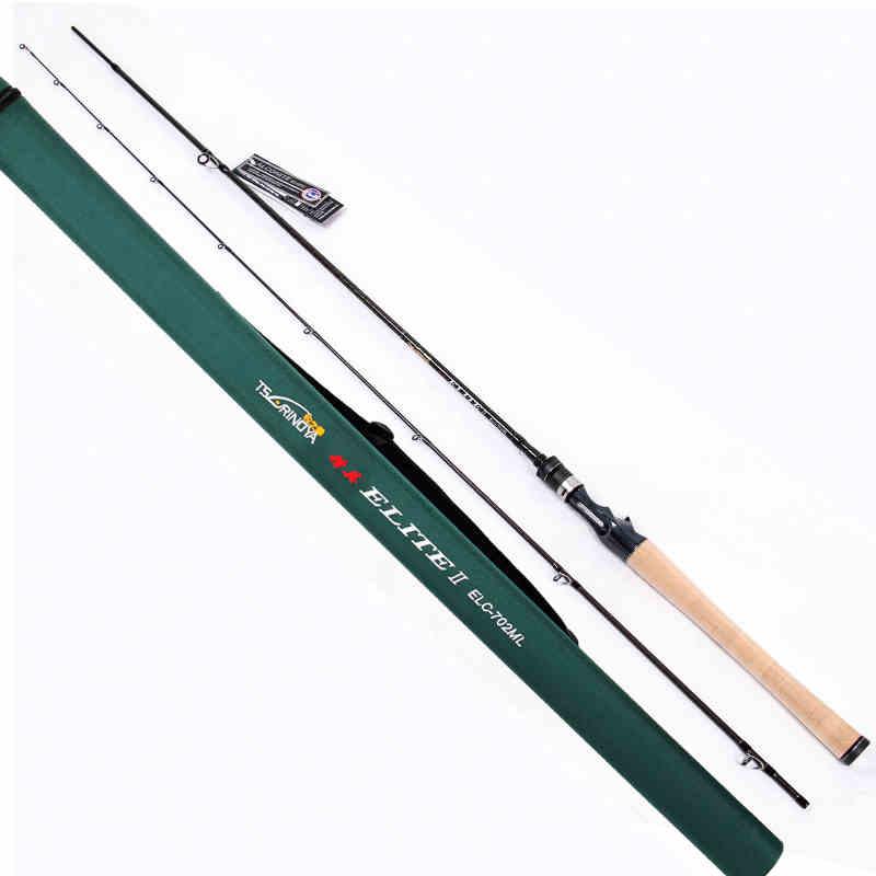 Tsurinoya Carton tige 2.13 M deux Sections appât coulée canne à pêche ML puissance leurre tige avec FUJI Guide anneau Extragreen ELC 702 ML