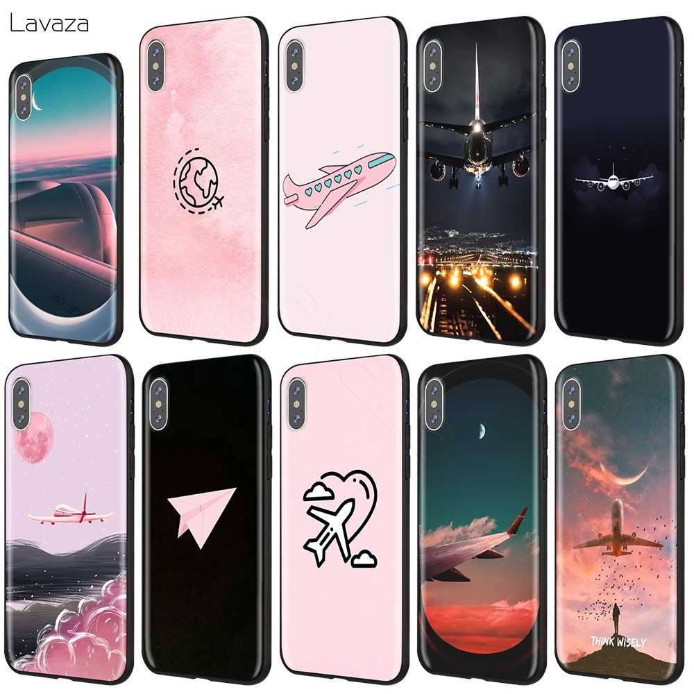 Lavaza Cartoon Air Plane Case for iPhone 11 Pro XS Max XR X 8 7 6 6S Plus 5 5s se