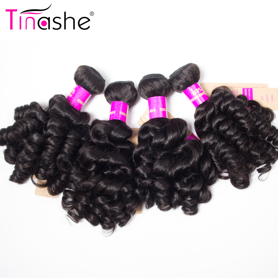 Tinashe Hair Weave Human-Hair-Extensions Loose-Curly-Bundles Funmi Remy Natural-Color title=