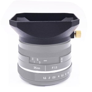 Image 4 - 37 39 40.5 43 46 49 52 55 58 mm Square Shape Lens Hood for Fuji Nikon Micro Single Camera Gift a cap cover