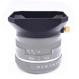 Image 4 - Cubierta de lente de forma cuadrada, 37 39 40,5 43 46 49 52 55 58mm, para Fuji Nikon, Micro Cámara individual, regalo