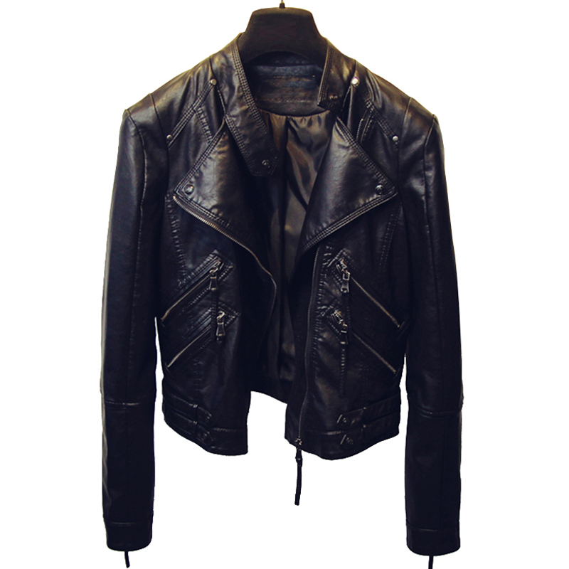 Spring Automotive Girls Leather Jackets Womens Black Leather Suede Coats Brand Designer Leather Jacket for Women Overcoats B456