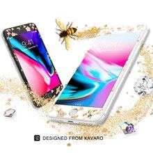Kingxbar dorigine pour iPhone 7 8 plus verre trempé protecteur décran pour iPhone 8 7 plus 9H verre complet avec cristaux strass