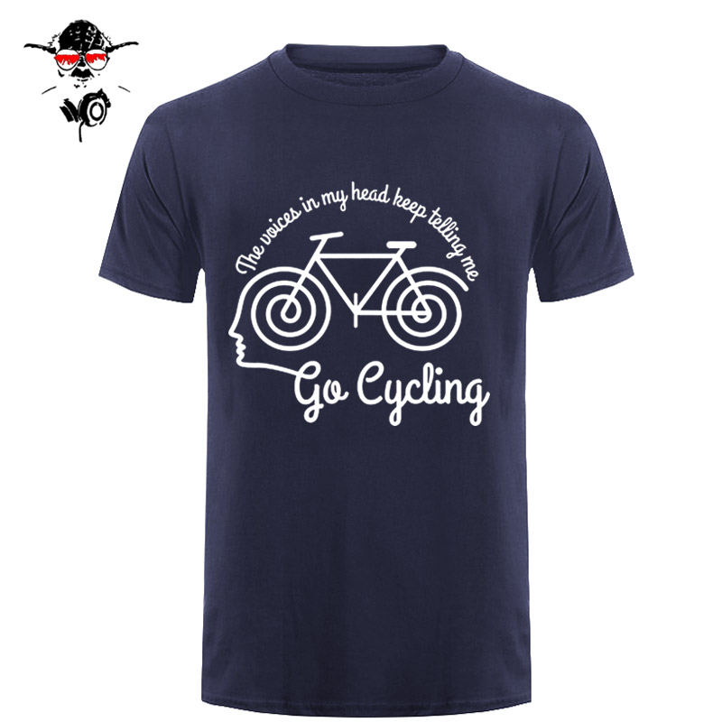 Voices In My Head Cyclinger MENS RLTW   T  -  SHIRT   Tee Cycle Cyclinger Bicycle Birthday Basic Models Print   T     Shirt   Summer Casual