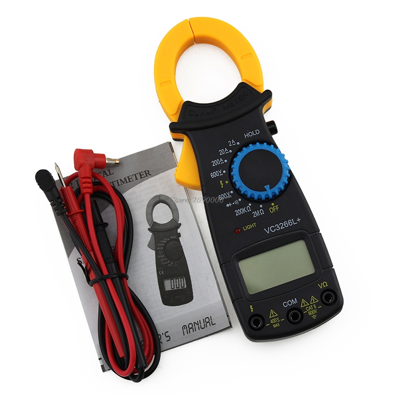 LCD Digital Clamp Multimeter AC DC Volt Voltage Amp Ohm Electronic Tester Meter JUN13 цена 2017