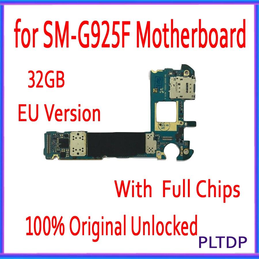 Version EU pour carte mère Samsung Galaxy S6 edge G925F, originale déverrouillée pour carte mère Samsung G925F avec système Android