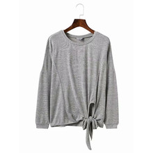 2019 New Women Solid Long Sleeves Pullovers Autumn Cotton O-neck Casual Loose Sweatshirt for
