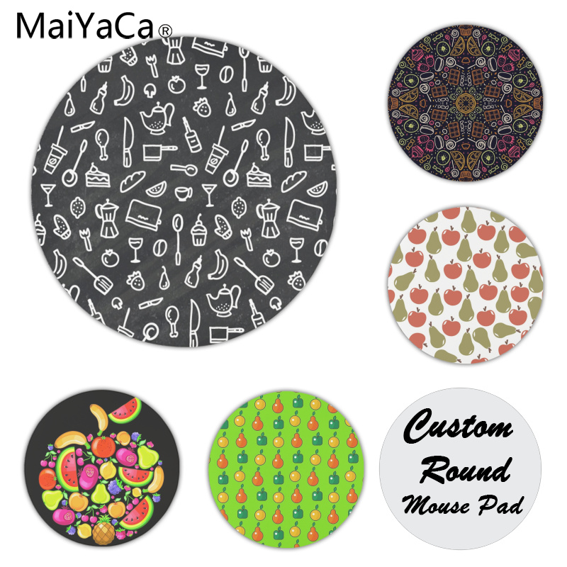 The Cheapest Price Maiyaca Sweet Corn Food Rubber Mouse Durable Desktop Round Mousepad Laptop Mice Mats Gaming Mouse Pad Drop Shipping Desk Mat Computer Peripherals