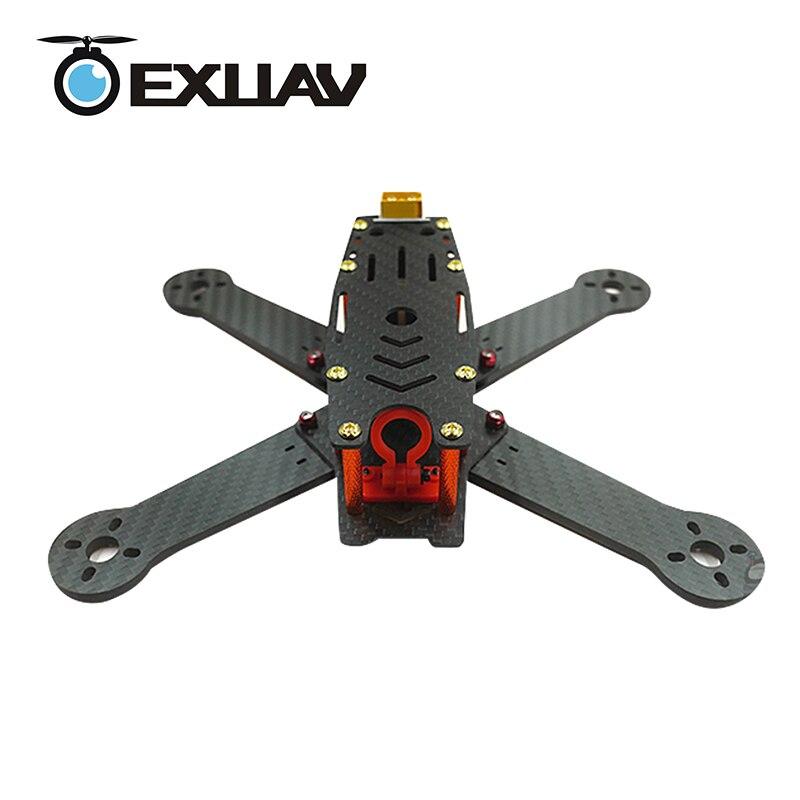 EXUAV 210 210mm Wheelbase Carbon Fiber Racing Drone Frame Kit For Flytower Pro RC FPV Quadcopter Toy Support Runcam Camera 108g bfight 210 210mm brushless fpv racing drone