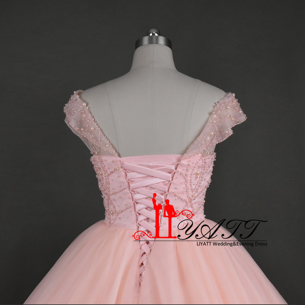79815924a66 2017 Real Photo Custom Made Pink Luxury Crystal Extra Puffy Arabic Vintage  Evening Prom Dresses Lace Up Custom Made LIYATT-in Evening Dresses from  Weddings ...