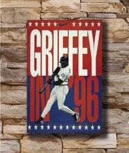 e1ace38bba N2583 Poster Ken Griffey Jr Great Baseball Player 8x12 20x30 24x36 Wall Poster  Art L-W Canvas