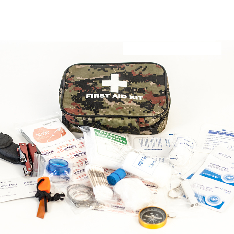 82Pcs Portable Military First Aid Kit Tactics Outdoor Medical Bag Emergency Survival Kit for Camping Hiking Climbing