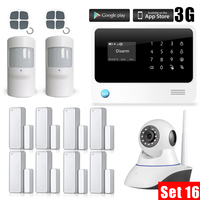 3G WiFi GSM Security Alarm System IOS Android APP Control Wireless Smart Home Burglar Alarm Sensor Alarm Kit