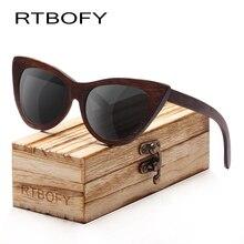 RTBOFY Wood Sunglasses Women Bamboo Frame Eyeglasses Polarized Lenses Glasses Vintage Design Sun Shades UV400 Protection