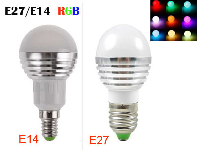 RGB LED Lamps AC85-265V 3W E27 E14 Led 16 Colors Bulbs Changeable Lamp multiple colour +IR Remote Control Led Lighting rgb 10w led bulb e27 e14 ac85 265v led lamp with remote control led lighting multiple colour
