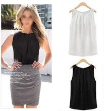 1PC HOT Fashion Simple fashion font b women b font summer sleeveless casual font b tank