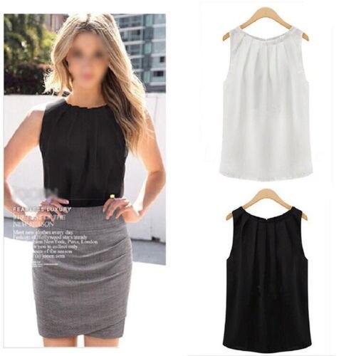 1PC HOT Fashion Simple fashion women summer sleeveless casual tank shirt blouse vest CATH