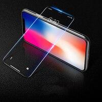 Película protectora de vidrio templado HD para Iphone 7 8 Plus XS Max XR Protector de pantalla de vidrio Protector para Iphone 7 S 6 S