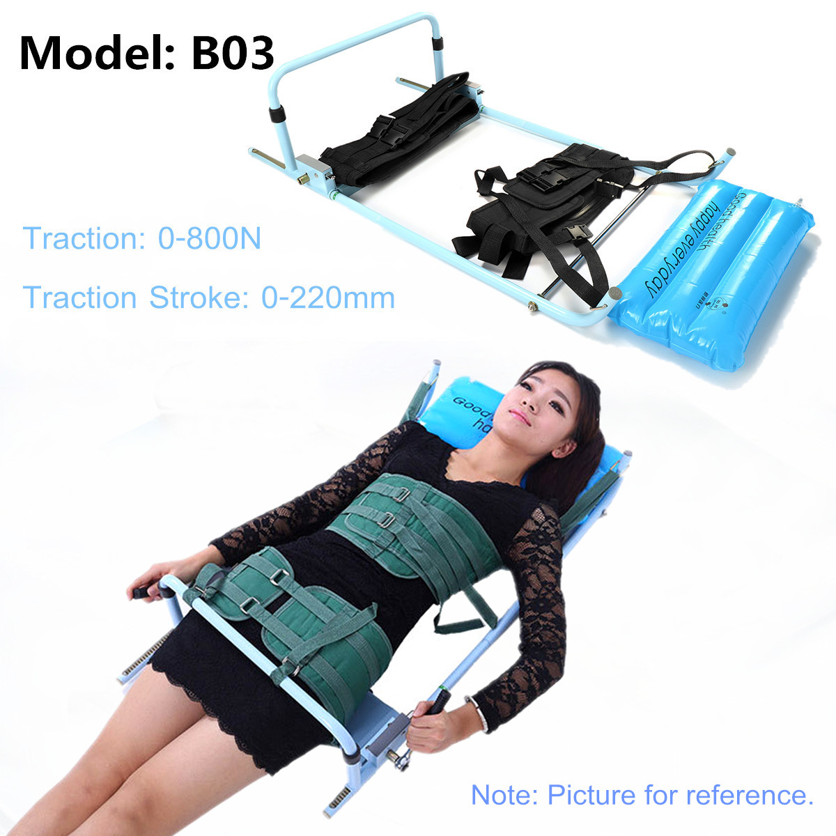 Spine Lumbar Spine Traction Bed Therapy Massage Body Stretching Device Cervical for Neck & Lumbar Reduce Spine Joint Pressure healthcare gynecological multifunction treat for cervical erosion private health women laser device