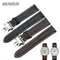 ISUNZUN часы ремешок для Longines L2 ремешок кожаный ремешок для часов из натуральной кожи бренд