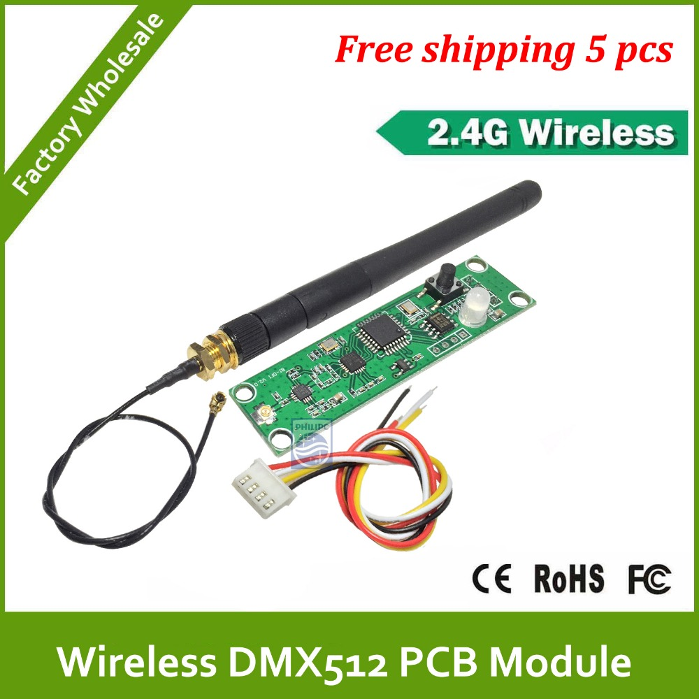 DHL Fast Free Shipping 2.4G led stage light led move head wireless dmx pcb moudle for wireless system ...