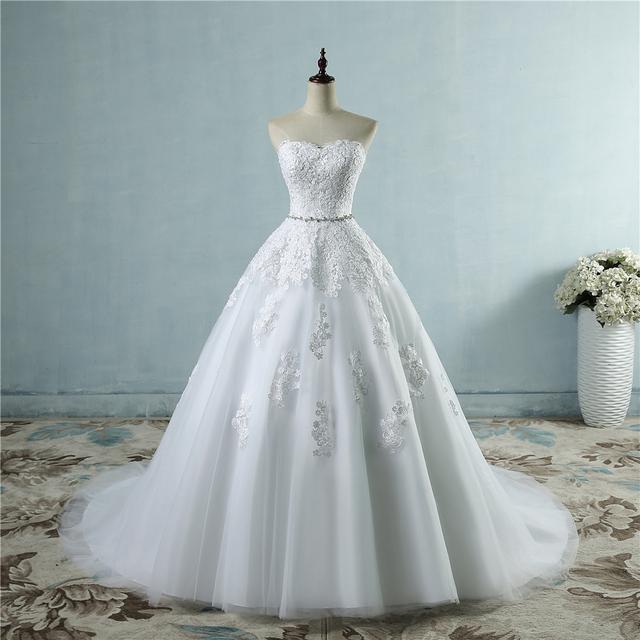 ZJ9032 lace flower Sweetheart White Ivory Fashion Sexy Wedding Dresses for brides plus size maxi size 2-26W