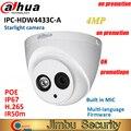 Dahua ip-kamera 4MP sicherheit kamera IPC-HDW4433C-A ersetzen IPC-HDW4431C-A POE IR30M H.265 Gebaut in MIC cctv Dome kamera multipl