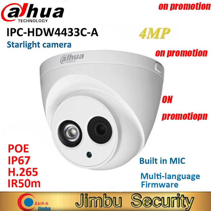 داهوا كاميرا IP 4MP كاميرا الأمن IPC-HDW4433C-A استبدال IPC-HDW4431C-A POE IR30M H.265 بنيت في هيئة التصنيع العسكري cctv كاميرا بشكل قبة متعددة