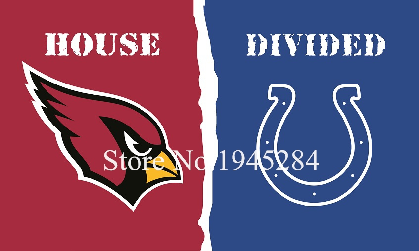 NFL Arizona Cardinals Indianapolis Colts House Divided Flag 3x5ft 150x90cm Polyester Flag Banner, free shipping