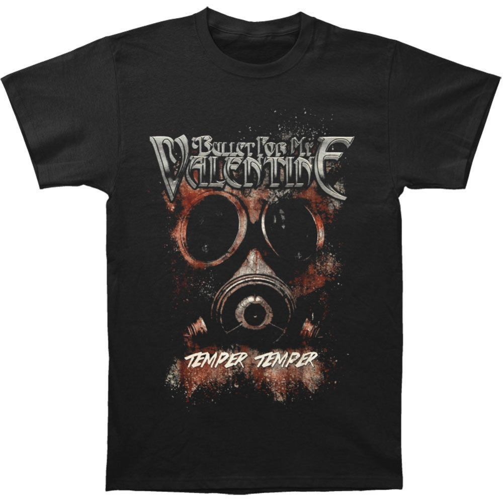 Tops & Tees T-shirts Rational Bullet For My Valentine Mens Temper Temper Gas Mask T-shirt Black Rockabilia For Fast Shipping