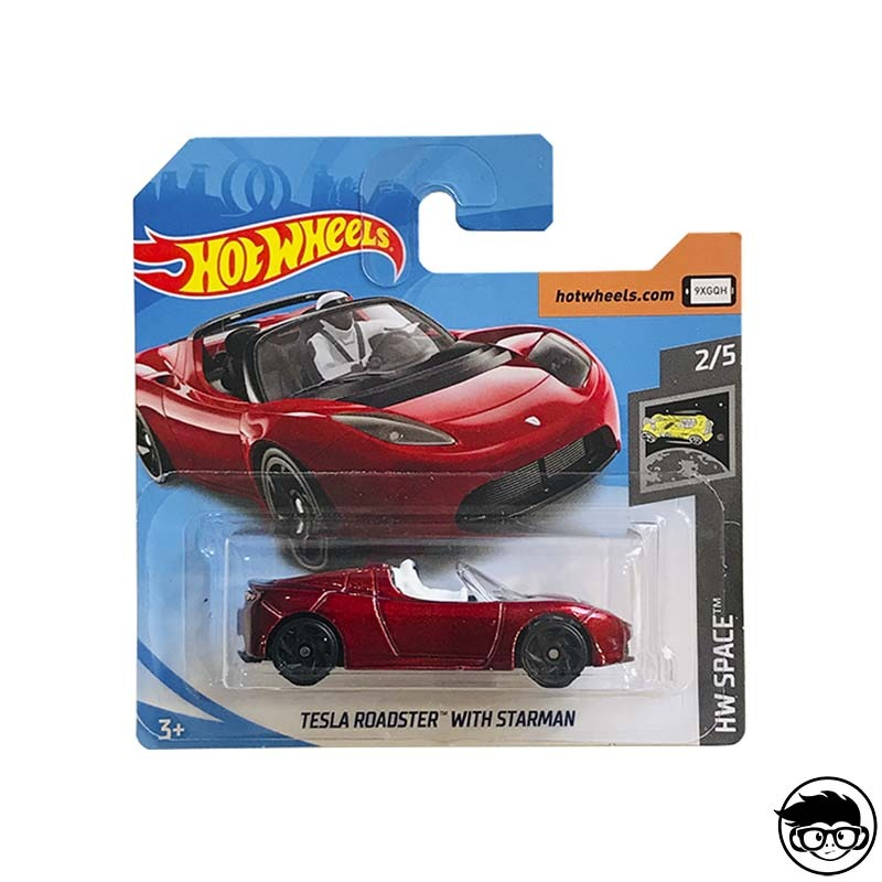 Hot Wheels Tesla Roadster With Starman HW Space 109/250 2019 Short Card