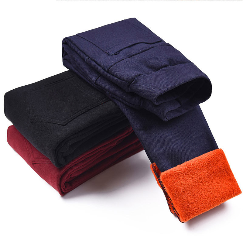 Kids Winter Pants for Girls Leggings Candy Color Girl Warm Long Pants Girls New Year Velour Thick Child Trousers for Teenagers